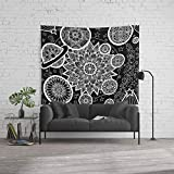 Society6 Wall Tapestry, Size Large: 88'' x 104'', Inverted Solar System Mandalas by rebeccaloechlerart