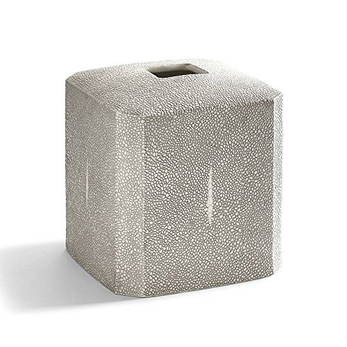 Tissue Holder, Kassatex Shagreen Bath Accessories | Fine Embossed Porcelain ()
