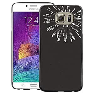 A-type Arte & diseño plástico duro Fundas Cover Cubre Hard Case Cover para Samsung Galaxy S6 (New Years Black White Fireworks 4'Th)