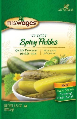 Mrs. Wages Hot Spicy Pickle Canning Mix (6.5 ounce package makes 7 quarts) by Mrs. Wages
