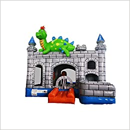 sunjoy dragon bouncy castle beach inflatable castle children games trampoline toys with basket and slide unknown binding