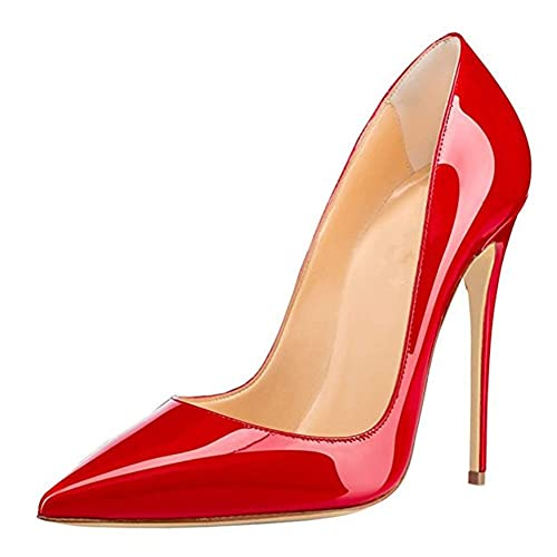 Womens Pointed Toe Stiletto High Heel Court Shoes