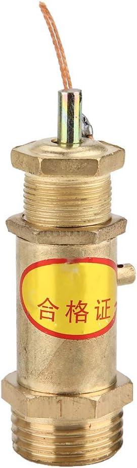 Válvula de liberación de presión Tipo de resorte Compresores de aire Válvula G3 / 8 Rosca de rosca Válvula de seguridad de latón(3KG)
