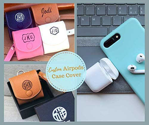 Genuine Leather Personalized Airpods Case, Custom Airpods Cover, Engraved Airpods - Custom Leather Case