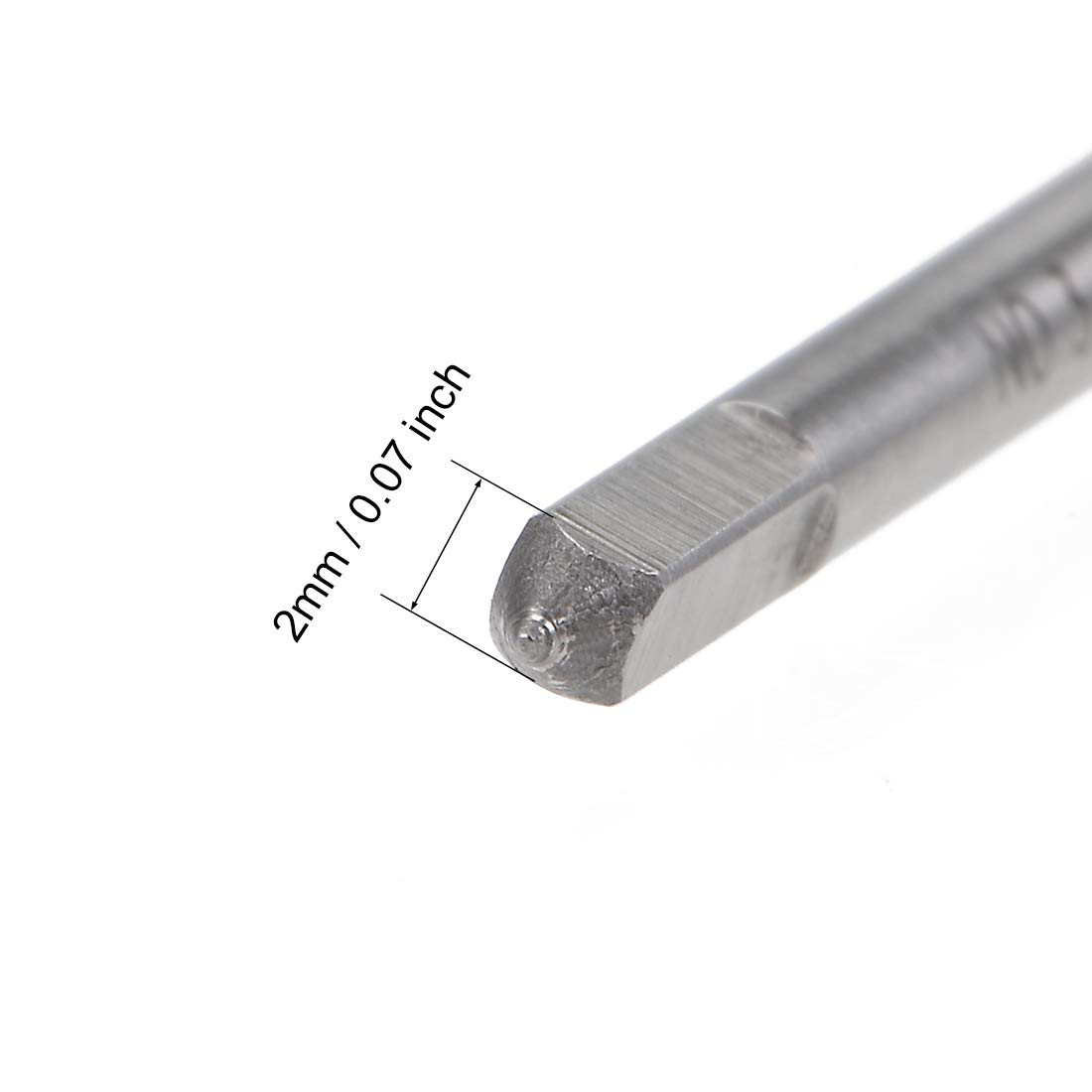uxcell Machine Tap 2-56 UNC Thread Pitch 2A 3 Flutes High Speed Steel
