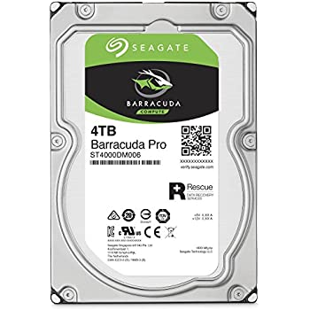 Seagate 4TB BarraCuda Pro 7200RPM SATA 6Gb/s 128MB Cache 3.5-Inch Internal Hard Drive (ST4000DM006)