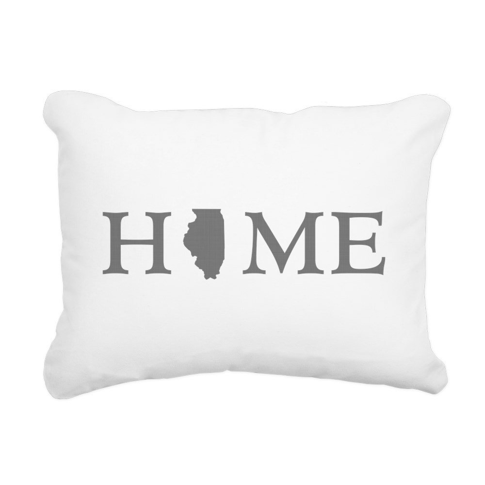 CafePress - Illinois Home State - 12''x15'' Rectangular Canvas Pillow, Decorative Throw Pillow with Piping, Accent Pillow