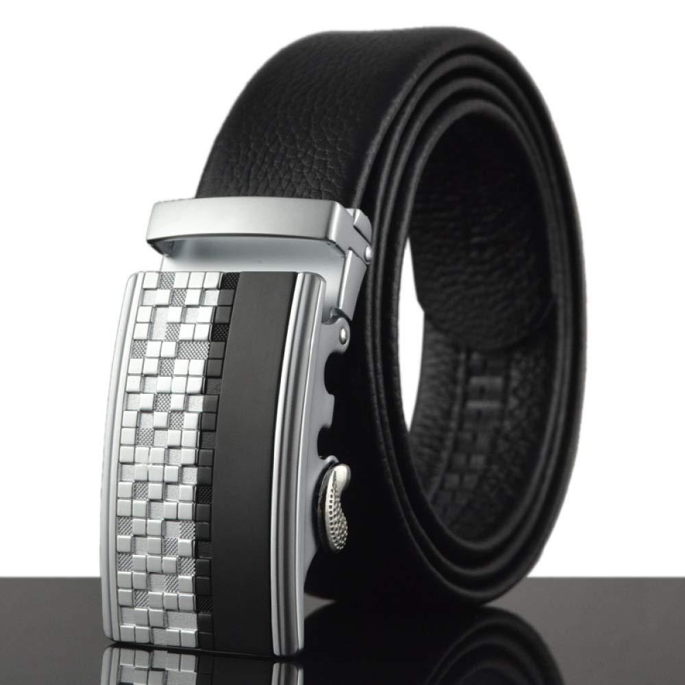 DENGDAI Mens Belt Trendy Pants Lead Taste Mens Leather Automatic Cowhide Belt