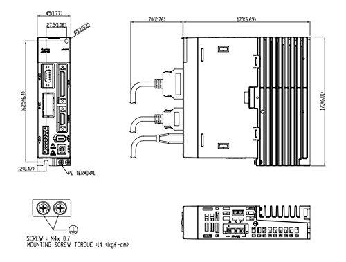 gowe ac 220v 0 4kw 400w delta servo motor drive kits 1 27nm 3000r  min 60mm with 3m cable ecma