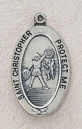 Girl's Cheerleading St Christopher Sports Medal by Christian Brands by Christian Brands