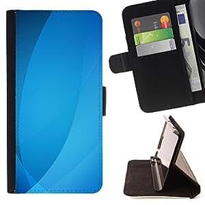 For LG G2 D800 Case , Ubuntu olas líneas pastel- la tarjeta de Crédito Slots PU Funda de cuero Monedero caso cubierta de piel