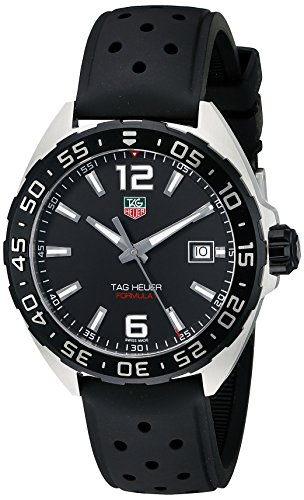 TAG Heuer Men's WAZ1110.FT8023 Formula 1 Stainless Steel Watch with Black - Strap Tag Heuer Rubber