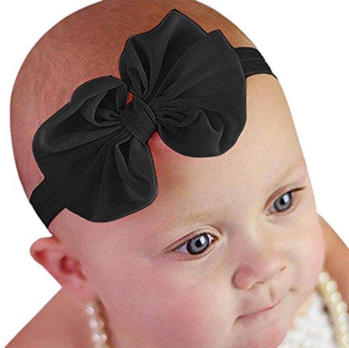 di il Bowknot della Fascia nero neonata di fotografia fiore chiffon 1Pc elastica del per di Akaayuko SqYExE75w