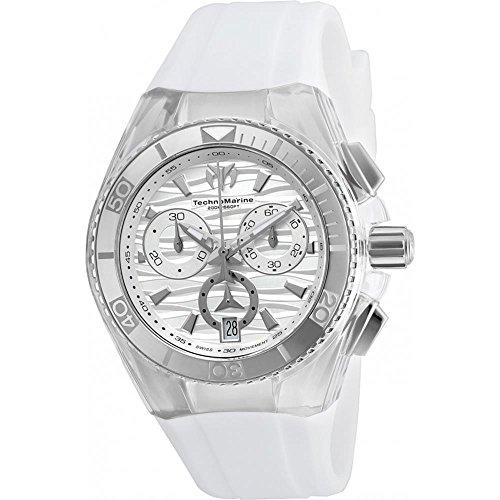 Technomarine Unisex TM-115050 Cruise Original Quartz Chronograph Antique Silver Dial Watch