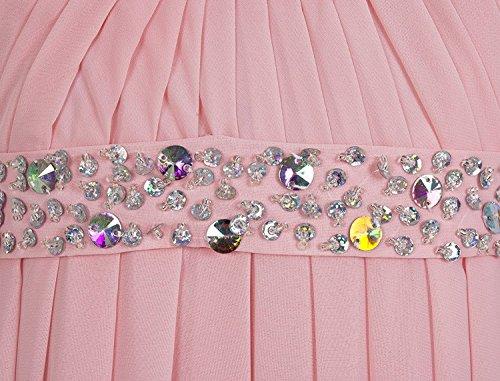 Waist Bridal Wedding Dresses Party Anna's Bridesmaid Beaded Long Purple Empire Women's Dress UBwtqxpg
