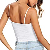Youngh Fashion Womens Sexy Solid Tank Top Vest Off Shoulder Halter Blouse T-Shirt White