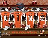 Personalized Locker Room Cincinnati Bengals Unframed Poster 14x11 Inches
