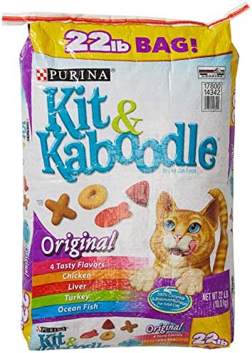 Purina Kit and Kaboodle Dry Cat Food, Original, 22 Lb Bag, Features 4 Tasty Flavors Chicken, Liver, Turkey, Ocean Fish 1