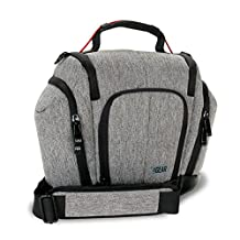USA GEAR Professional DSLR Camera Bag Carrying Case with Shoulder Strap and Lens Storage Pockets for Canon EOS Rebel T5 / T5i / T6 / T6i / SL1 , Canon EOS 5D Mark II / III / IV and More DSLR Cameras!