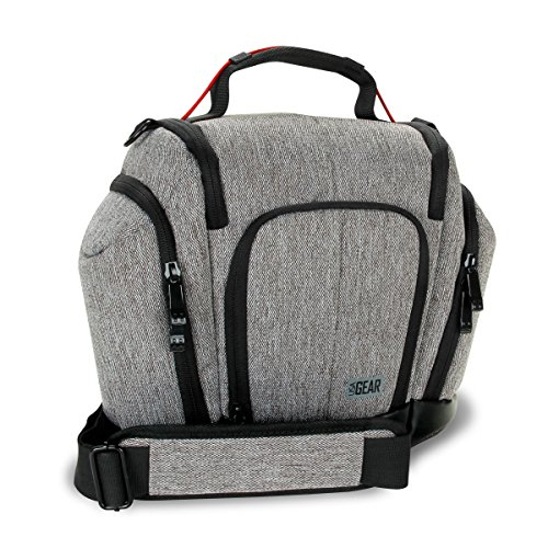 DSLR Camera Bag Sling with Weather Resistant Bottom, Soft Cu