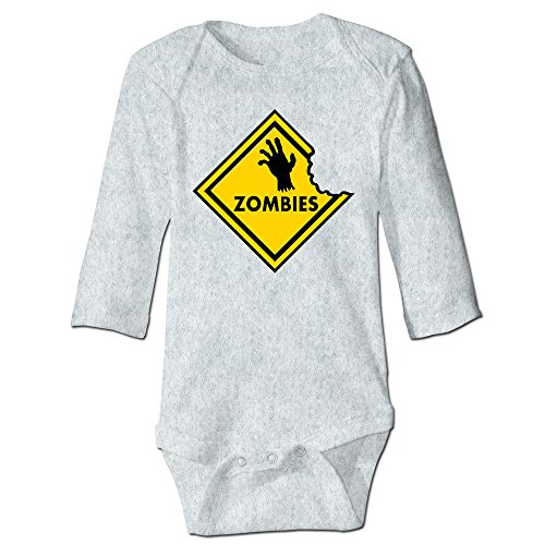 Price comparison product image CRAZB Infant And Toddler Bodysuits Zombies Warning Ash 18 Months