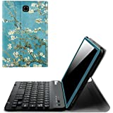 Fintie Keyboard Case for Samsung Galaxy Tab A 8.0 (2015) - Slim Shell Light Weight Stand Cover with Magnetically Detachable Wireless Bluetooth Keyboard for Tab A 8.0 (SM-T350/T355/P350/P355), Blossom