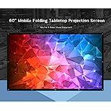 Portable 60 inch Tabletop Projector Screen 16:9