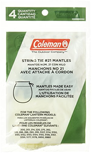 Coleman Lantern Light - Coleman 3000004344 Mantle Sock Tie 4Pk