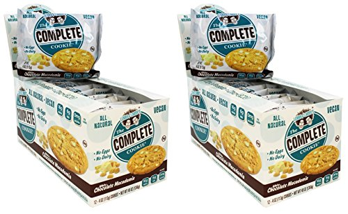 Lenny & Larry's The Complete Cookie, White Chocolate Macadamia, 24 Count - White Brownie