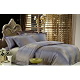 Dolce Mela DM449Q Ibiza 6-Piece Percale Jacquard Cotton Duvet Cover Set, Queen
