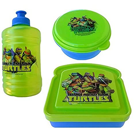 Amazon.com: Teenage Mutant Ninja Turtles 3-Piece Lunch Box ...