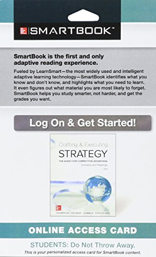 SmartBook Access Card for Crafting & Executing Strategy: Concepts and Readings
