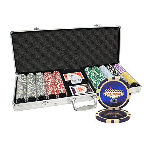 MRC 500pcs Las Vegas Laser Poker Chips Set with Aluminum Case by Mrc Poker