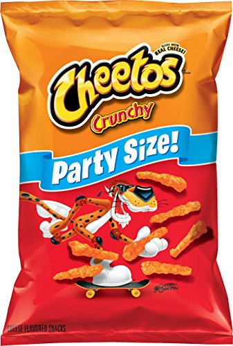 Cheetos Crunchy  Cheese Flavored Snacks, Party Size! (17.5 Ounce) (Calories In A Bag Of Hot Cheetos)