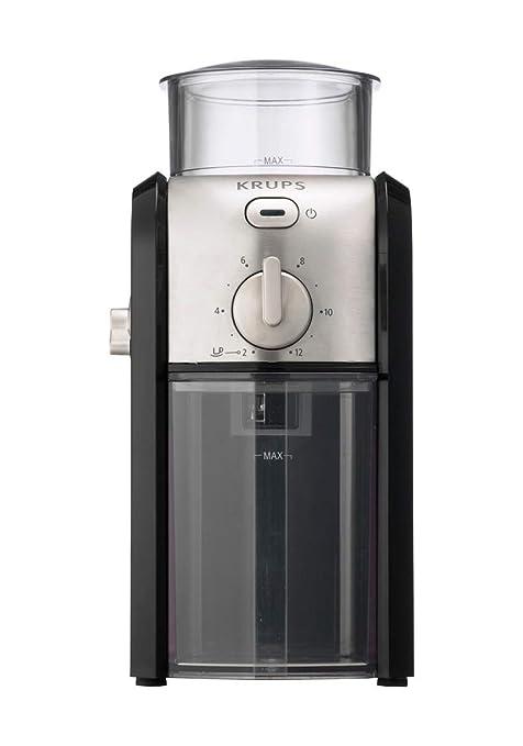 Krups GVX243 Molinillo de Café Profesional con Sistema de Muelas con Torno-Molido y 17 Ajustes de Triturado, de más Fino a más Grueso, 100 W