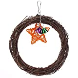 Bird Toys - Lovely Rattan Ball Pet Parrot Bird Toys Chewing Climbing Swing Stairs Windchimes Funny Bell Play - Talk Spoons Blocks Making Outside That Mewtogo Noise Children Supplies