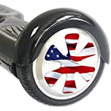 Skin Decal Wrap for Board Balance Scooter Wheels American Flag