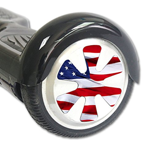 Mightyskins Mightyskins Protective Vinyl Skin Decal for Hover Balance Board Scooter Wheels Mini Board Unicycle Bluetooth Wrap Cover Sticker American Flag, 0.03 Pound