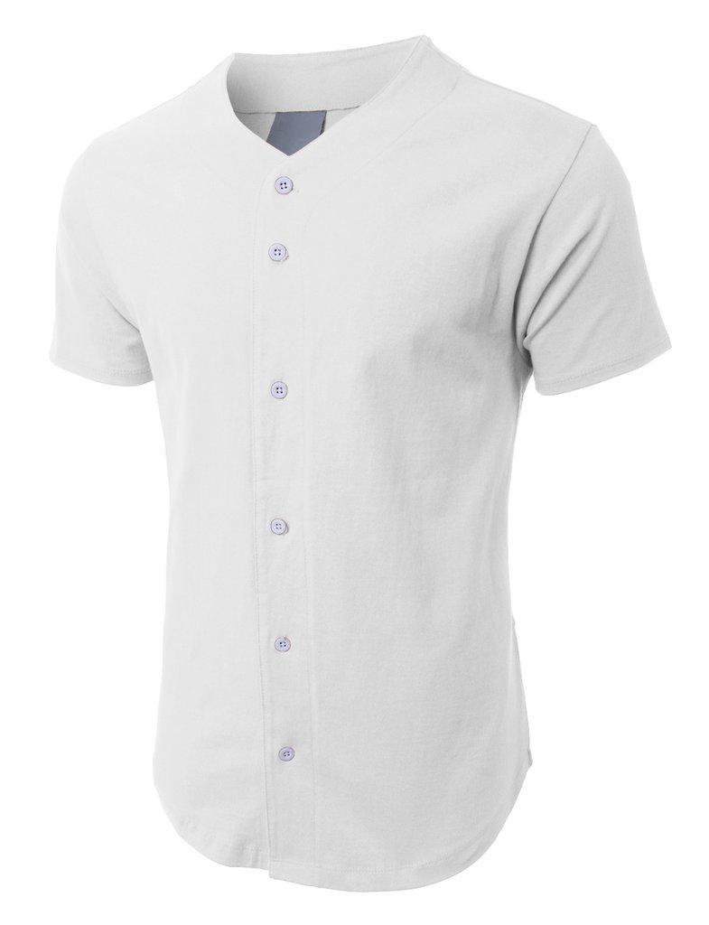 メンズ ベースボール ボタンタウン ジャージ ヒップスター ヒップホップ Tシャツ 1UPA01 B071D9BZQ7 L|ホワイト ホワイト L