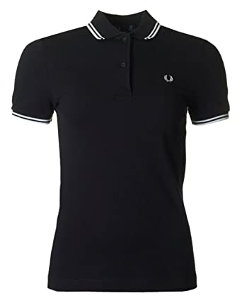 fc4c444ae0 Fred Perry - Polo ajustado mujer Fred Perry negro Twin Tipped Fred Perry  Shirt  Amazon.es  Ropa y accesorios