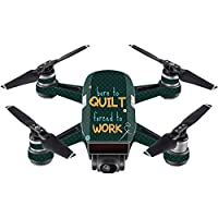 Skin For DJI Spark Mini – Born To Quilt | MightySkins Protective, Durable, and Unique Vinyl Decal wrap cover | Easy To Apply, Remove, and Change Styles | Made in the USA