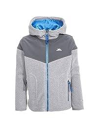 Trespass Boys Bieber Hooded Fleece Jacket (11-12 Years) (Smoke)
