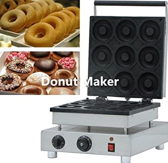 9 pcs eléctrico Sweet Donut Maker 9 cm corazón Donuts tarta utensilio cocina utensilio de hierro