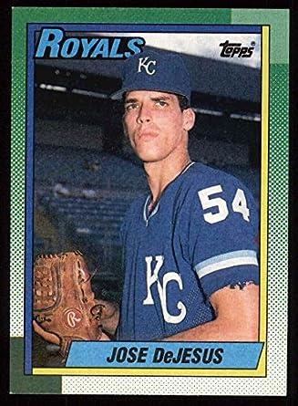 Amazoncom 1990 Topps 596 Jose Dejesus Kansas City Royals