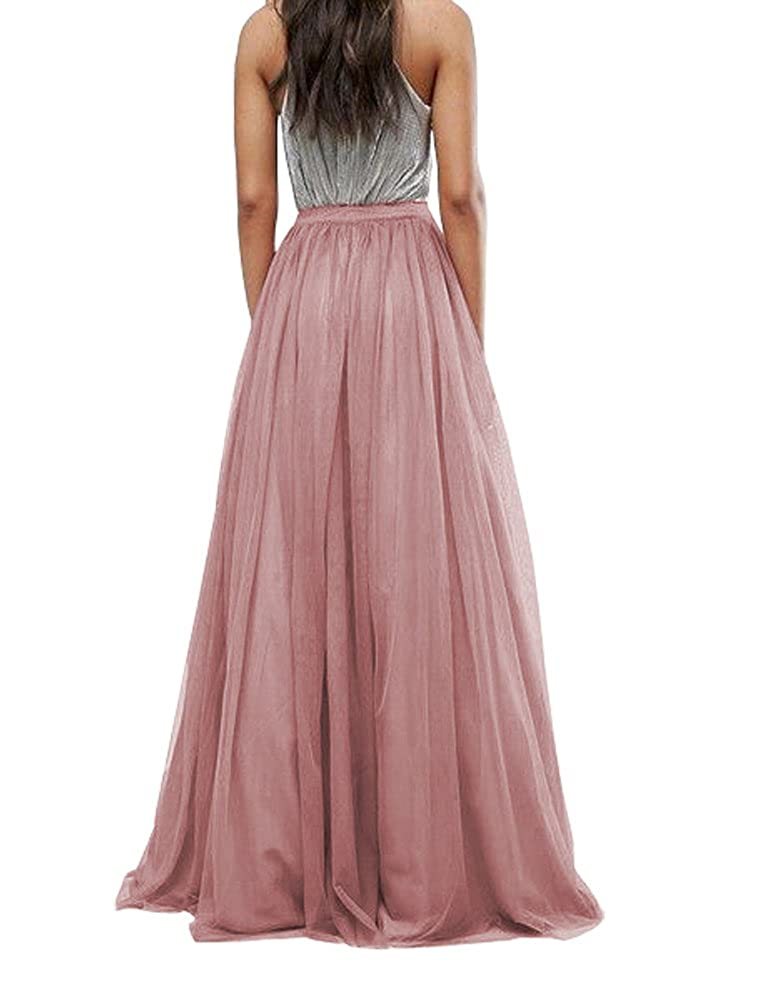 92cc4256ca CoutureBridal Women's Bridal Prom Tulle Long Skirt Party Floor Length  Customizable at Amazon Women's Clothing store: