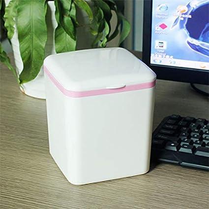 in Gr/ün Papierkorb b/üro f/ür tisch-13.5 16cm Vikenner M/ülleimer Mini mit Deckel Platz Einfach Abfalleimer aus Kunststoff 13.5 PP
