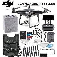DJI Phantom 4 PRO+ PLUS Obsidian Edition Drone Quadcopter Includes Display (Black) Starters Travel Bundle