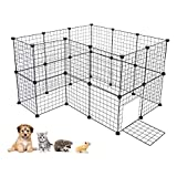 Cheap Cocoarm Dogs Kennel Portable Pet Playpen Puppy Fence Indoor Outdoor Dog Pen Small Animal DIY Metal Wire Grid Crate for Guinea Pig Cat Rabbit Bunny Ferret, Includes Door and Cable Ties, 24 Panels