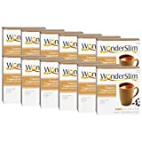 WonderSlim Low-Carb High Protein Diet/Weight Loss Instant Hot Drink Mix - Cappuccino (7 ct) 12 Box Value Pack (Save 15%) - Low Carb, Low Fat, Gluten Free