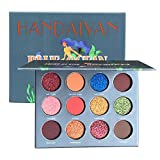 Lavany 12 Colors Eyeshadow Palette,Pearl Metallic Matte Shimmer Eye Shadow Powder Palette Makeup toolsEyeshadow Palette Cosmetic for Party (B)